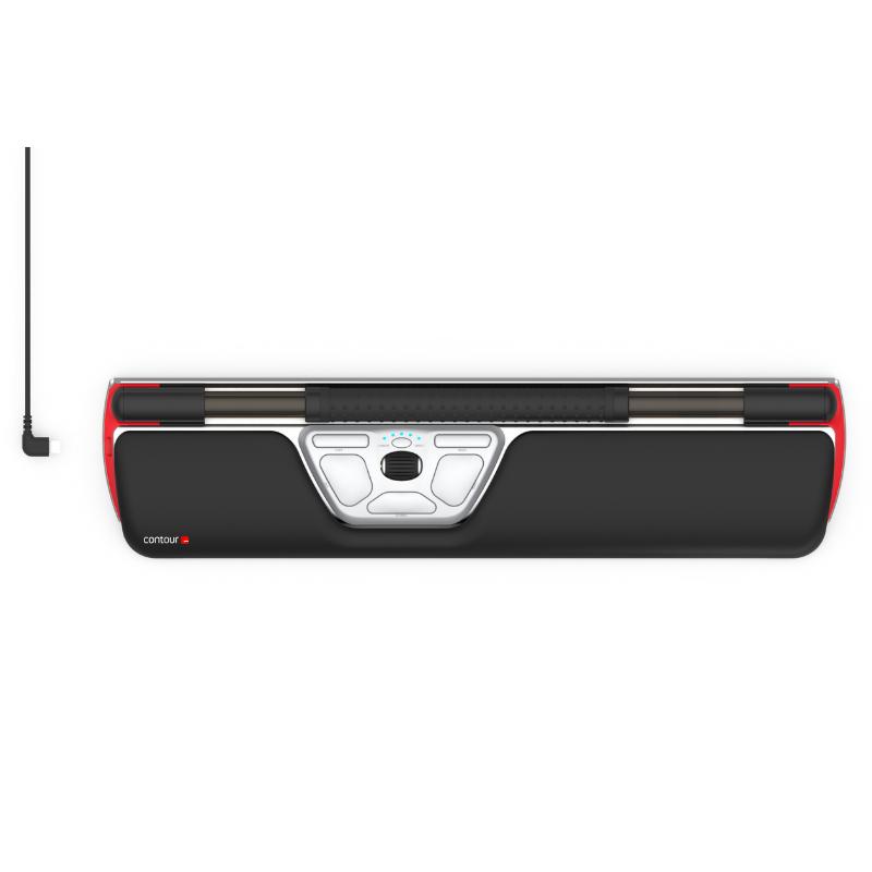 עכבר ארגונומי עם פד מובנה ROLLERMOUSE RED – תוצרת CONTOUR