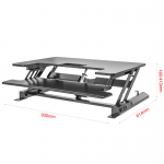 עמדת עמידה / ישיבה מתכוונת חשמלית ארגונומית LD02E – תוצרת CASIII צבע לבן