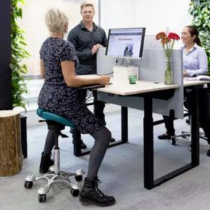 SALLI כסא אוכף ארגונומי טופ קומרס ציוד ארגונומי למשרד