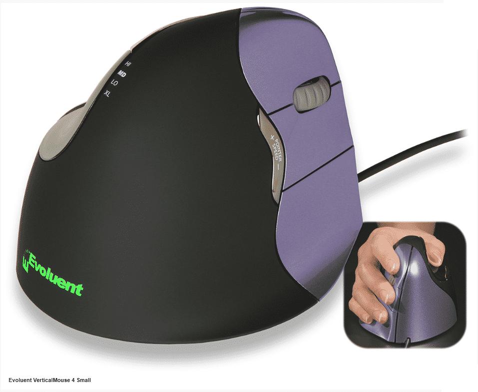 עכבר ארגונומי אנכי VerticalMouse 4 – EVOLUENT – ימין/שמאל חוטי/אלחוטי