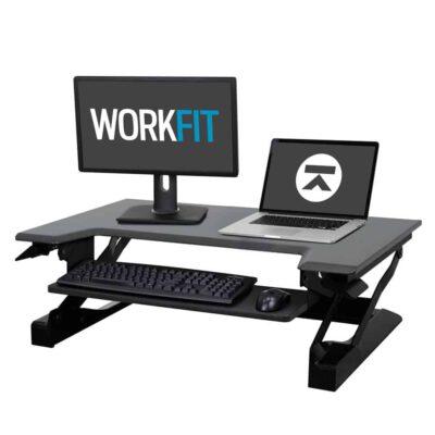 עמדת עמידה/ישיבה מתכוונן ארגונומי – 33-397-085 –  WorkFit-T – תוצרת ERGPTRON