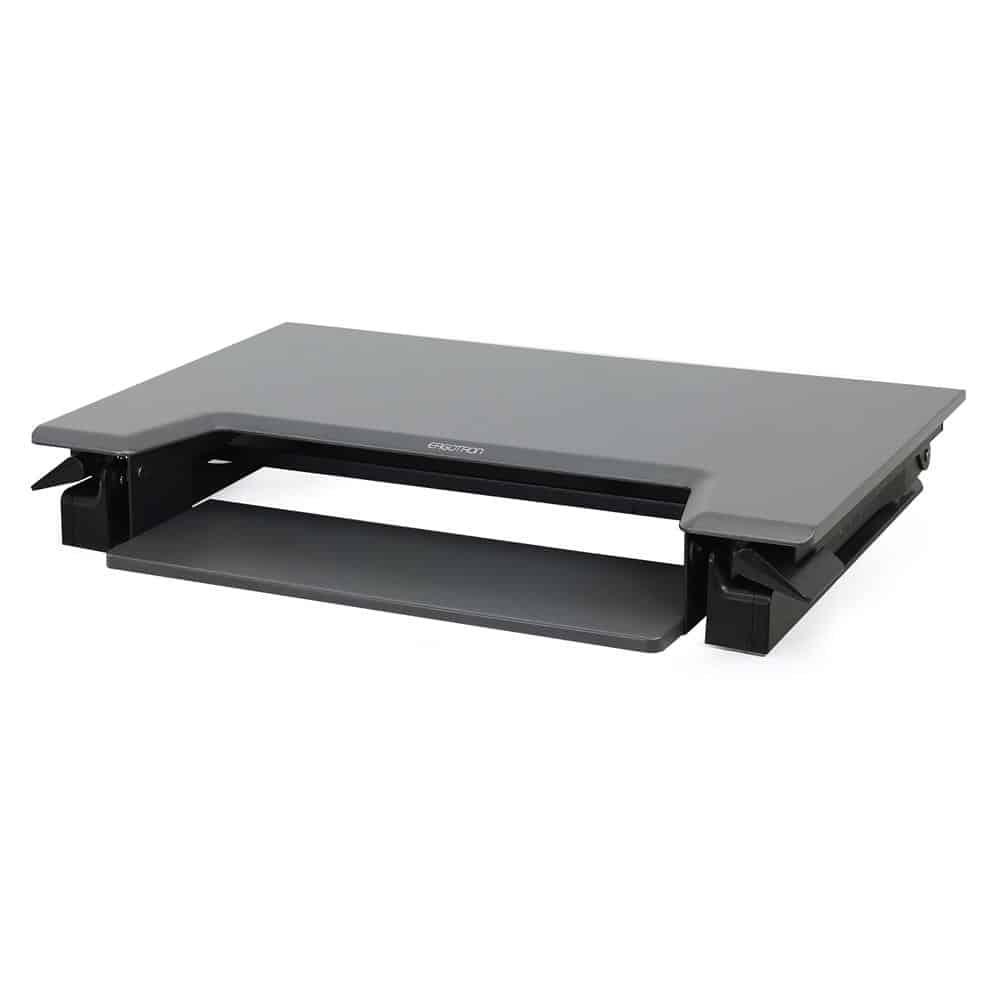 עמדת עמידה/ישיבה מתכוונן ארגונומי – 33-397-085 – WorkFit-T – תוצרת ERGOTRON