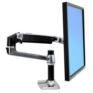זרוע שולחנית לנשיאת מסך מחשב ארגוטרון Ergotron E-45-241-026 LX Desk Mount LCD Monitor Arm, Polished Aluminum