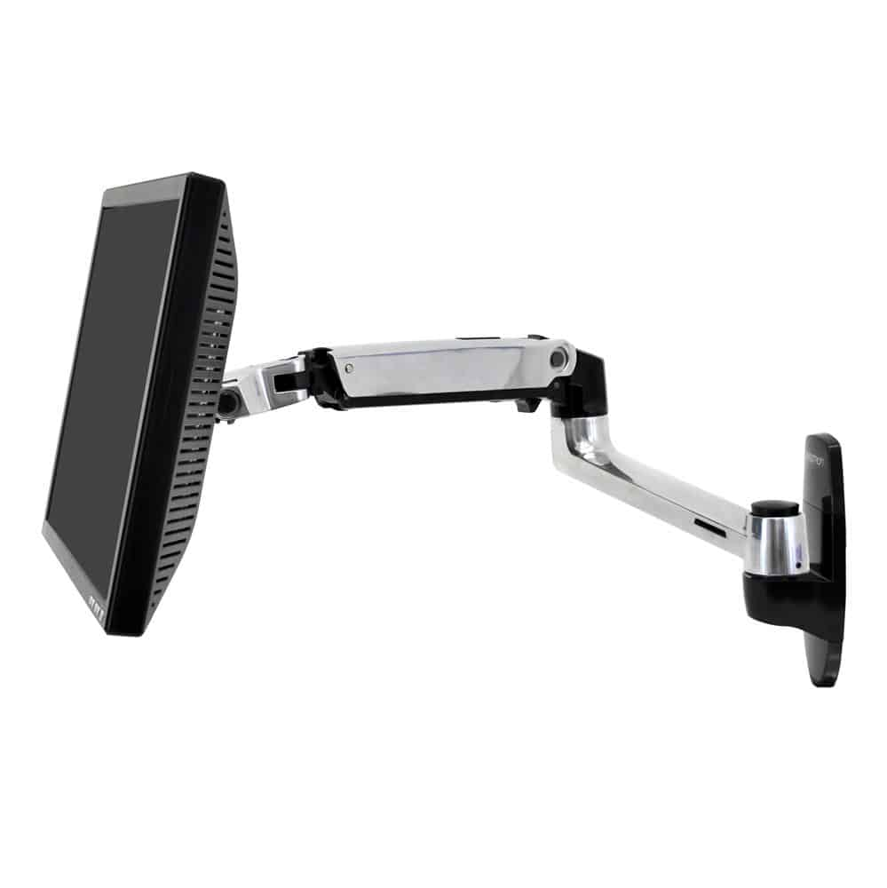 זרוע למסך מחשב ארגונומית מתכווננת חיבור לקיר – E-45-243-026 – תוצרת ארגוטרון – Ergotron