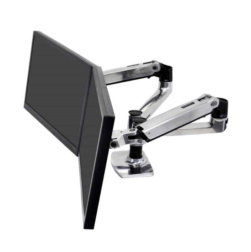 זרוע מאלומניום כפולה מתכוונת למסך מחשב LX Dual Side-by-Side Arm 45-245-026 6