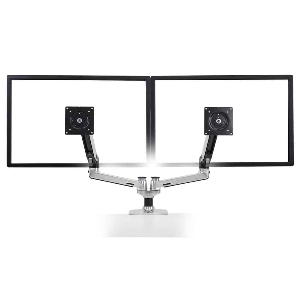 זרוע למסך מחשב ארגונומית מתכווננת – E-45-245-026 – LX Dual Side-by-Side Arm תוצרת ארגוטרון – Ergotron