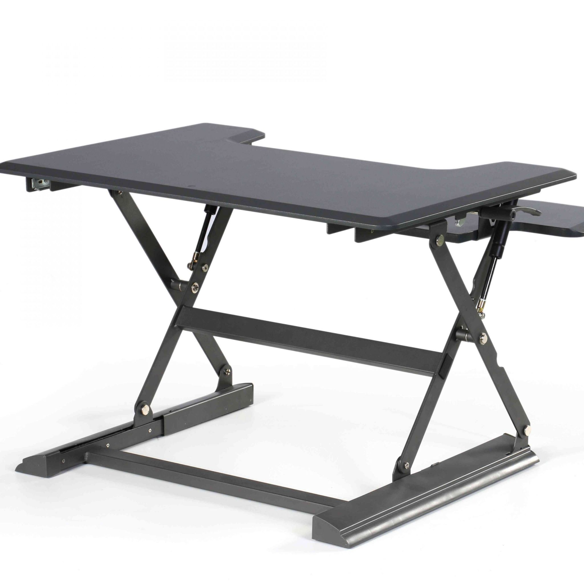 עמדת מחשב עמידה/ישיבה מתכווננת ארגונומית דגם  UP36 תוצרת CASIII  | לבן \ שחור