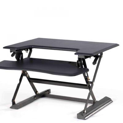 עמדת מחשב עמידה/ישיבה מתכווננת ארגונומית דגם UP36 תוצרת CASIII שחור