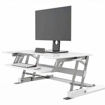 עמדת עמידה/ישיבה מתכוונן ארגונומי LD02W לבן – תוצרת CASIII