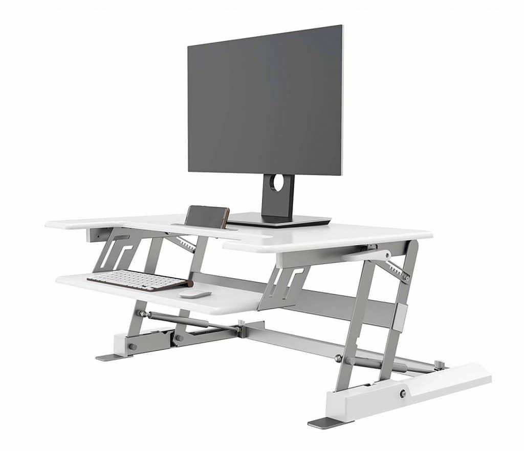 עמדת עמידה/ישיבה מתכוונן ארגונומי LD02W  שחור  \ לבן – תוצרת CASIII