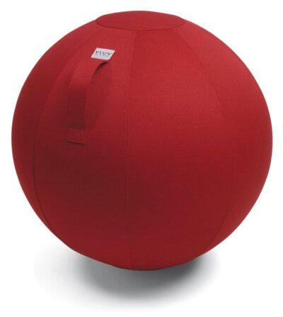 כדור ישיבה מבד פוליאסטר עמיד ארגונומי אדום