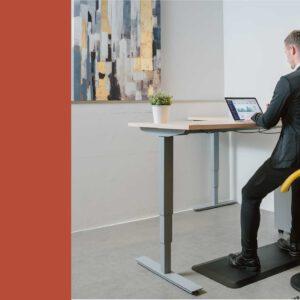 כסא עמידה ישיבה ארגונומי YOYO SADDLE שחור- תוצרת CASIII