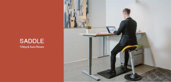 YOYO SADDLE CHAIR כיסא עמידה ישיבה מתכוונן שחור אווירה