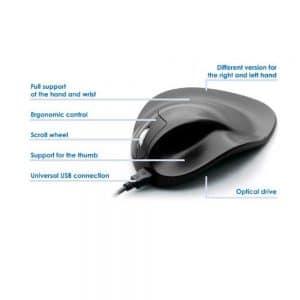 HandShoe Mouse M2WB- עכבר ארגונומי ימין חוטי טופ קומרס