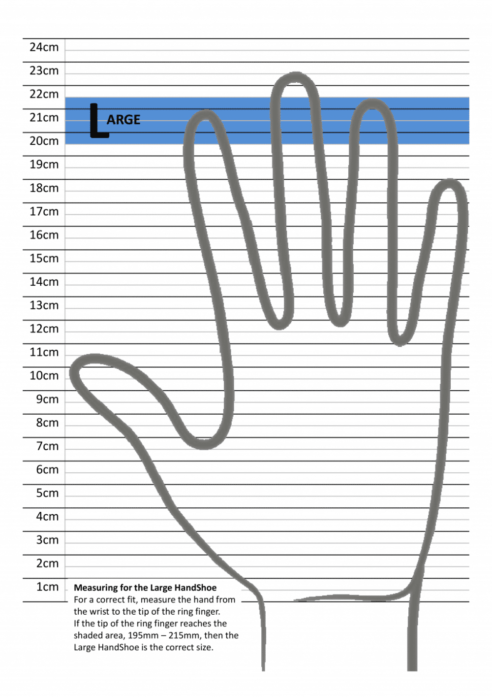 מדידת כף יד לעכבר ארגונומי HandShoe_Large_Ruler טופ קומרס ציוד ארגונומי