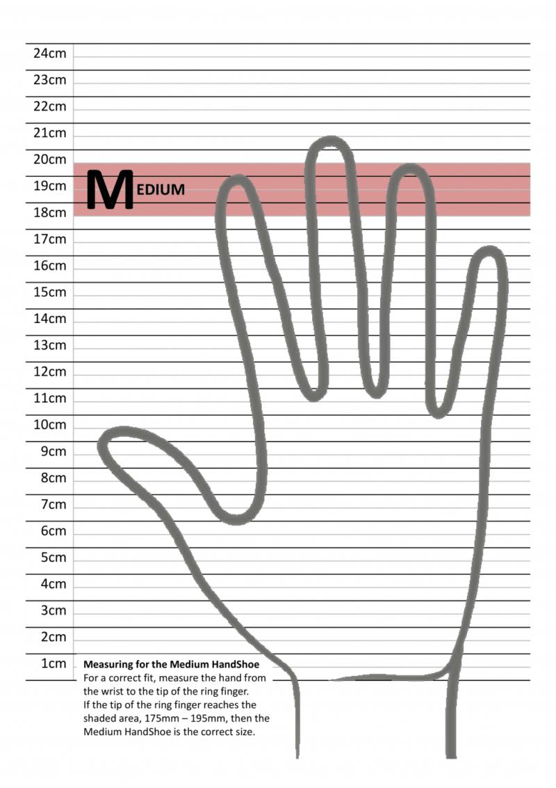 מדידת כף יד לעכבר ארגונומי HandShoe_Large_Ruler טופ קומרס ציוד ארגונומי M