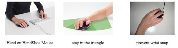 2 wrist snap בעכבר ארגונומי טופ קומרס