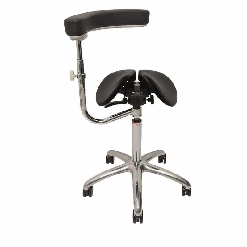 משענת גב ותומך זרועות מסתובב – לכסא אוכף ארגונומי מתכוונן תוצרת SALLI ALLAROUND