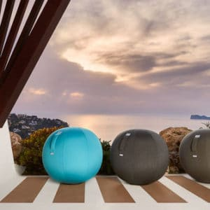 כדור ישיבה ארגונומי – VLUV AQUA 65 – תוצרת HOCK – כחול לשימוש חצוני
