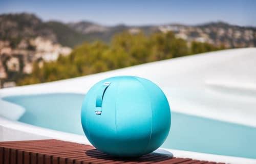טופ קומרס כדור ישיבה לבריכה ולגינה 2 כחול VLUV AQUA BLUE