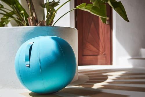 טופ קומרס כדור ישיבה לבריכה ולחצר כחול VLUV AQUA Aruba Blue