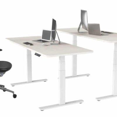 שולחן ישיבה עמידה חשמלי מתכוונן ארגונומי Stand-15 – תוצרת CASIII – לבן