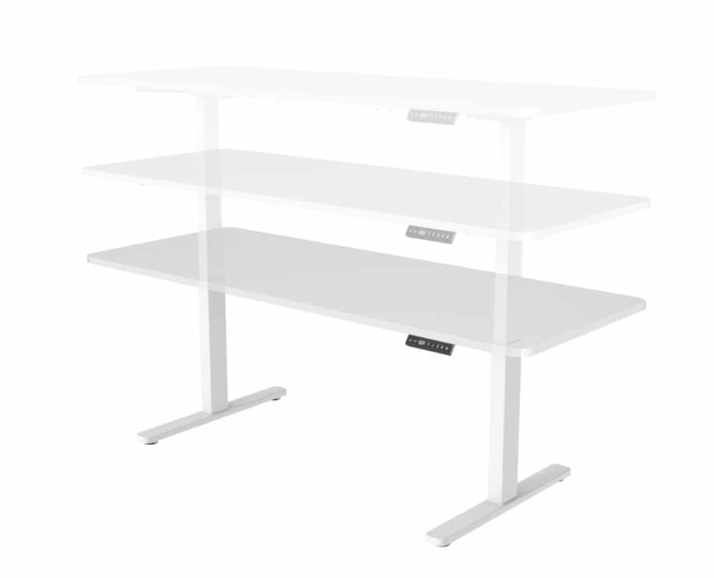 שולחן ישיבה עמידה חשמלי מתכוונן ארגונומי Stand-35 – תוצרת CASIII – שחור