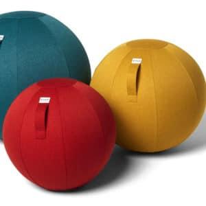 כדור ישיבה ארגונומי – VLUV LEIV Stone Beige – אבן (כדור פיזיו איכותי)
