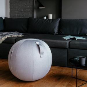 כדור ישיבה ארגונומי – VLUV LEIV Silver Grey – כסוף (כדור פיזיו איכותי)