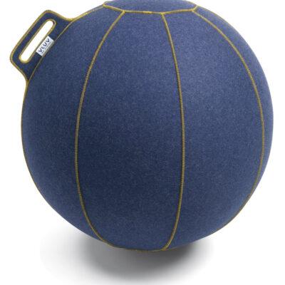 כדור ישיבה ארגונומי – VLUV VELT Jeans flecked / Gold – כחול (כדור פיזיו איכותי)