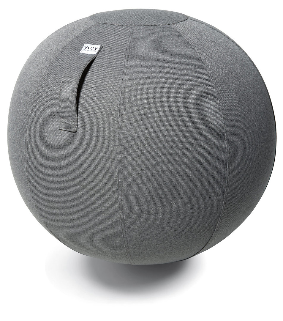 כדור ישיבה ארגונומי – VLUV SOVA ASH – אפור (כדור פיזיו איכותי)