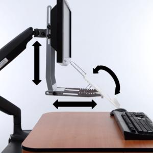 מעמד מסמכים מתכוונן עם חיבור לזרוע מסך – VUR 59GR