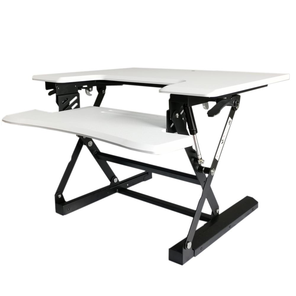 עמדת מחשב עמידה/ישיבה מתכווננת ארגונומית דגם  UP28 תוצרת CASIII לבן או שחור