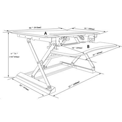 עמדת מחשב עמידה/ישיבה מתכווננת חשמלית דגם  UP36E תוצרת CASIII לבן