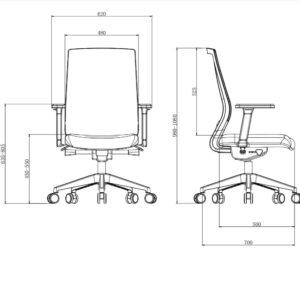 כסא מנהלים פרימיום ארגונומי מתכוונן – ERGOTOP MAYA