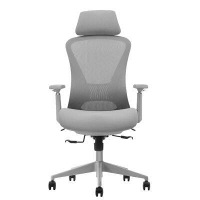 כסא מעוצב פרימיום ארגונומי מתכוונן עם תומך ראש – ELLA