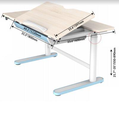 שולחן ישיבה עמידה חשמלי מתכוונן לילדים – עם הטיית משטח עבודה
