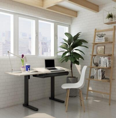 שולחן ישיבה עמידה חשמלי מתכוונן – עם הטיית משטח עבודה ET120