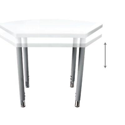 """שולחן כיתה\ גן מתכוונן גובה מכני – לקבוצות או יחידים  טווח 53 עד 79 ס""""מ"""